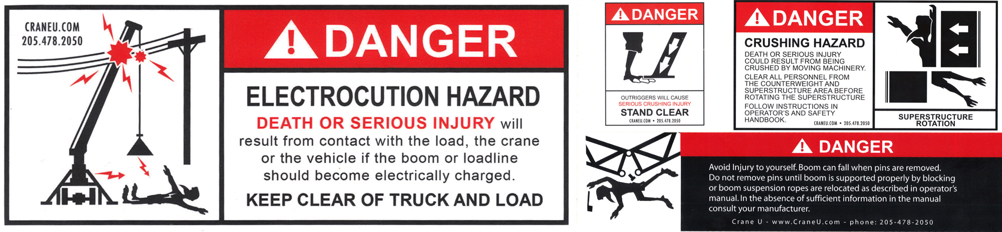 safety sticker for cranes