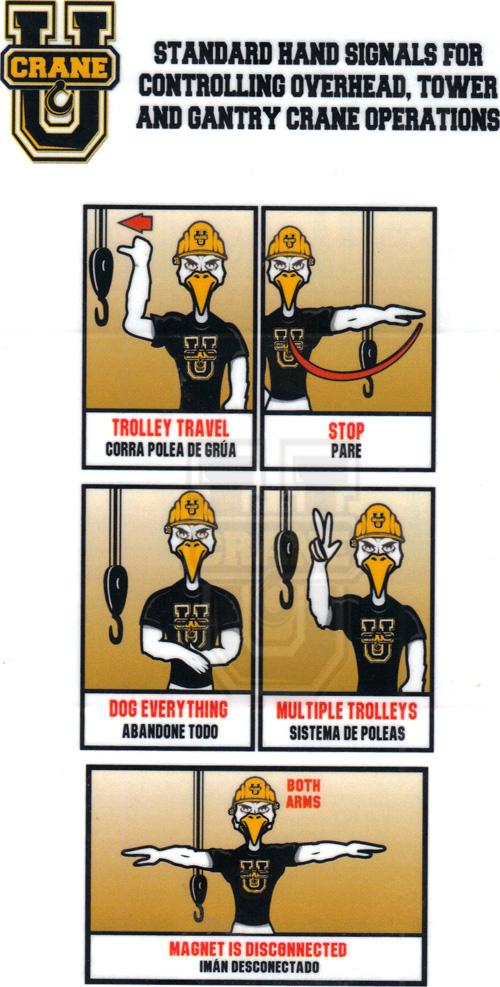 Tower Crane Signals : Crane u store safety decals cards shirts
