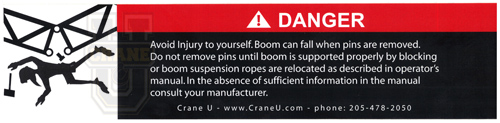 Crane Safety Decal - Lattice Boom